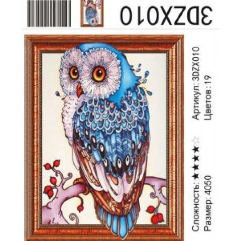 Алмазная мозаика 3DZX010 Сова 40х50