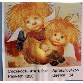 Картина по номерам Q4266 2 Домовенка40*50