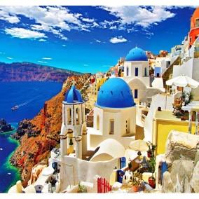 Алмазная мозаика FZ6170 Греция 40х50