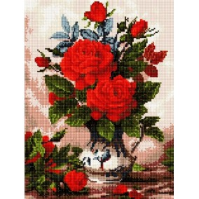 Алмазная мозаика EF 0228 Цветы 30*40