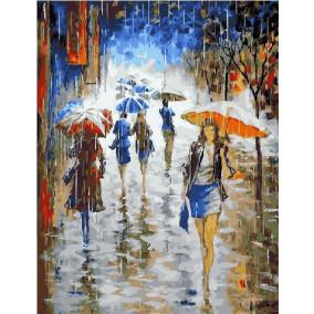 Картина по номерам GX 21148 Дождь на улице 40*50