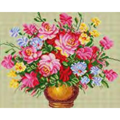 Алмазная мозаика GF2141 Цветы 40*50
