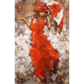 Картина по номерам GX 21791 Девушка в красном 40*50