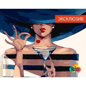 Картина по номерам GX 22272 Коктейльная вишня 40*50