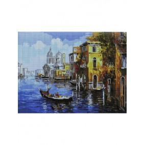 Алмазная мозаика GF2235 Прогулка по Венеции 40*50