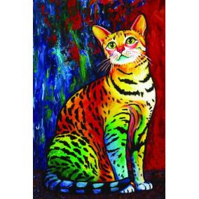 Картина по номерам GX 22583 Радужная кошка 40*50