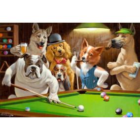 Картина по номерам GX 5867 Собаки и бильярд 40*50