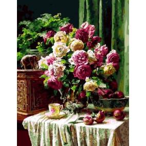 Картина по номерам GX 9017 Цветы и гранат 40*50