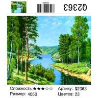 Картина по номерам Q2363 Березы и речка 40*50