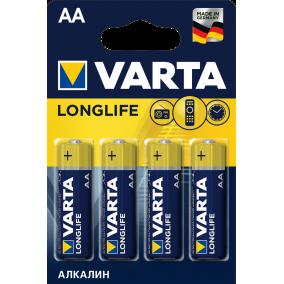 Батарейка VARTA LONGLIFE LR6 AA BL4 - (блистер 4шт)