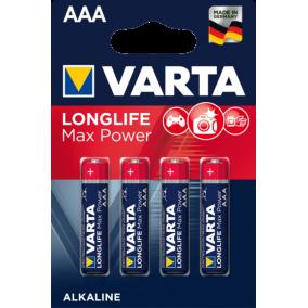 Батарейка VARTA LONGLIFE MAX POWER LR03 AAA BL4 (блистер 4шт)