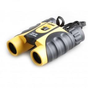 Бинокль Veber БН 10х25 WP, желто-черный