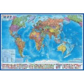 Интерактивная карта мира политическая 1:55М 60х40см
