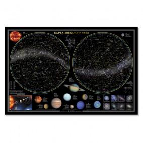 Карта Звездного неба / планеты, настольная карта, 58х38 ГЕОДОМ