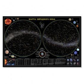 Звездное небо / планеты, ламинированная настенная карта, 124х80.ГЕОДОМ