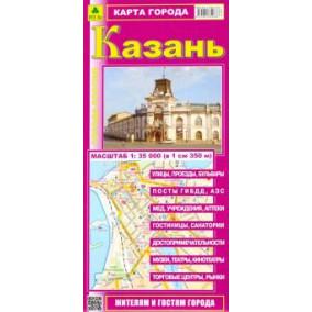 Казань. Карта города. РузКо