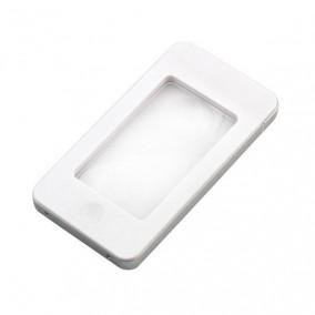 Лупа для чтения Veber 2,5x/4x, 75x43 мм, белая, с подсветкой (G188)