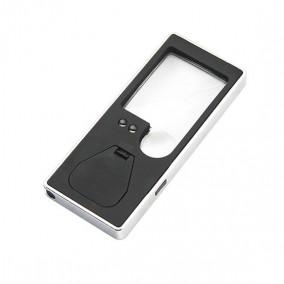 Лупа карманная Veber 3x/8x, 38x31 мм, с подсветкой (7007)