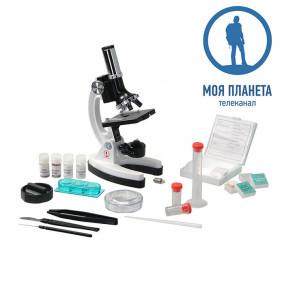 Микроскоп Моя Планета 100х-900х в кейсе