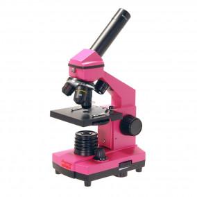 Микроскоп школьный Эврика 40х-400х в кейсе (фуксия)