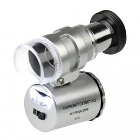 Микроскоп Kromatech 60x мини, с подсветкой (2 LED) и ультрафиолетом