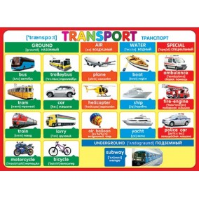 Плакат. Transport (Транспорт)