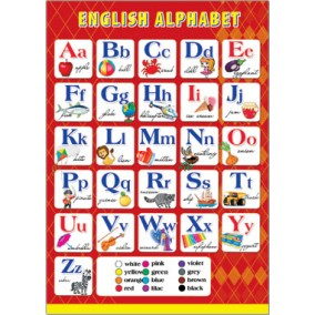 Плакат. ENGLISH ALPHABET(490х690)
