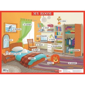 Плакат. My room/Моя комната 45х64 см
