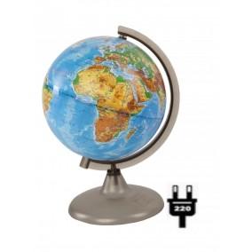Глобус физический 210 с подсветкой