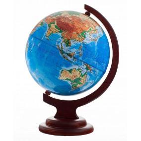 Глобус физический 210 на деревянной подставке
