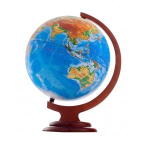 Глобус физический 250 на деревянной подставке