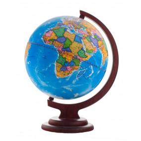 Глобус политический 210 на деревянной подставке