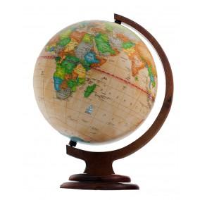 Глобус политический Ретро-Александр 250 на деревянной