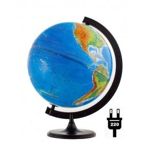Глобус физический/политический (2-я карта) 320 с подсветкой