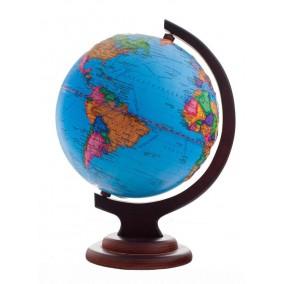 Глобус политический 210 рельефный на деревянной подставке