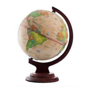 Глобус политический Ретро-Александр 210 рельефный на деревянной подставке