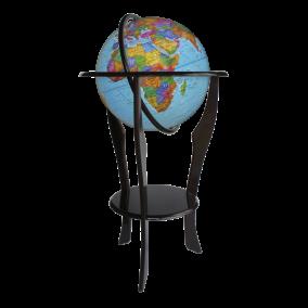 Глобус политический 420 на напольной деревянной подставке