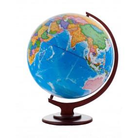 Глобус политический 420 на деревянной подставке настольный