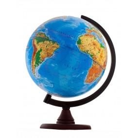 Глобус физический 250 на пластиковой дуге и деревянной подставке