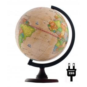 Глобус политический Ретро-Александр 250 на деревянной подставке и пластиковой дуге