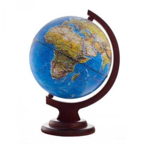 Глобус ландшафтный 210 на деревянной подставке