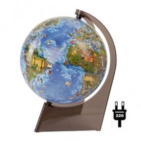 Глобус Земли для детей 210 на треугольной подставке с подсветкой