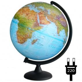 Глобус физический/политический (2-я карта) 300 с подсветкой