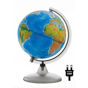 Глобус физический/политический 200 мм с подсветкой