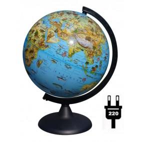 Глобус Зоогеографический 250 мм с подсветкой