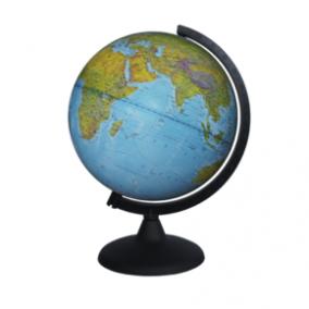 Глобус физический диаметр 250 мм на английском языке