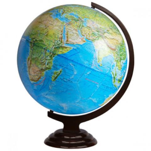 Глобус географический 420 мм на деревянной подставке настольный