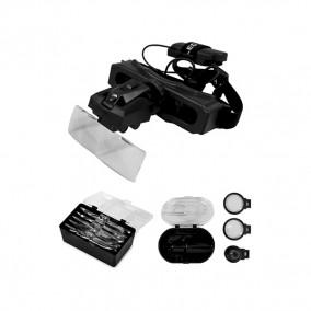 Лупа-очки Kromatech налобная 28x, с подсветкой (1 LED)
