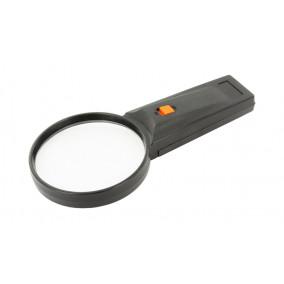 Лупа пластик № 26-75 (х5) с подсветкой